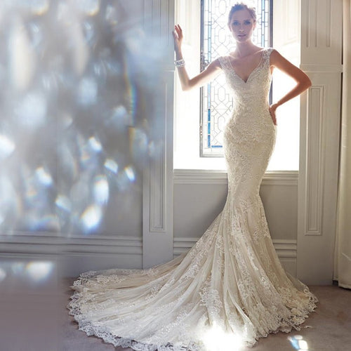 Wedding Gowns Luxury Lace Mermaid Wedding Dresses