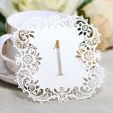 Rustic Craft Hollow Lace Table Number Table Cards from 1 to 10 Wedding Decoration Vintage (10pcs/set)