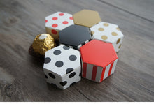 Hexagon geometry theme Paper Box cookie Macaron Chocolate Christmas Birthday wedding candy Party candy Packaging  (20pcs)