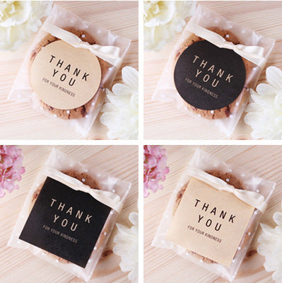 Thank You Stickers Wedding Souvenirs Labels Gift Decoration Tag  Sticker Simle Fashion Design (48pcs)