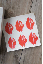 Red sexy lip kiss design Stickers as Labels Gift Tag birthday Home Valentine's chocolate Sticker Paper (120pcs)