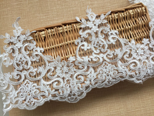3yards/Lot Off White Wedding Embroidery Lace Trim
