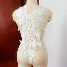 57*35cm Handmade French Embroidered Lace Applique For Bridal Dress