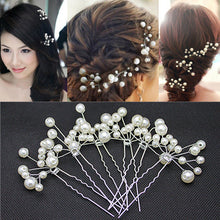 Pearl Hair Pins Bridal Accessories Bridesmaid Fashion Jewelry (10pcs)