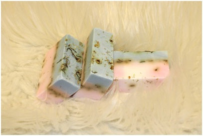 Soothing Box Soaps Infused with Coconut Oil and Scented with Lavender Essential Oil