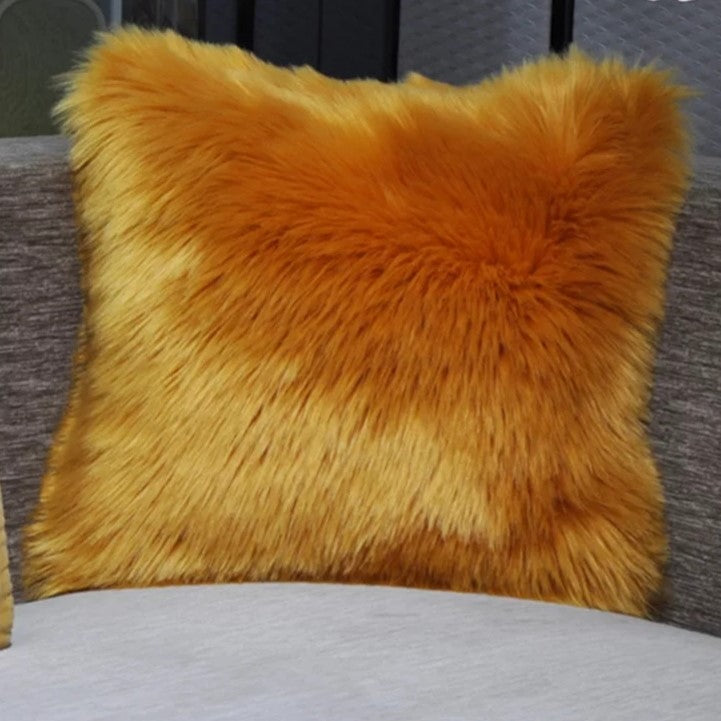 Gold Luxury Plush Pillow Case