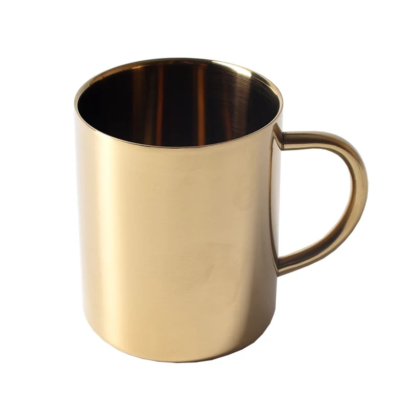 Stainless Steel Gold Mug