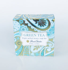 Luxury Blue Paisley Soap (Green Tea) 3.5oz