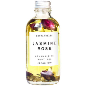 JASMINE AND ROSE SENSUAL BODY OIL BY SOPRANOLABS (4.2 FL OZ)