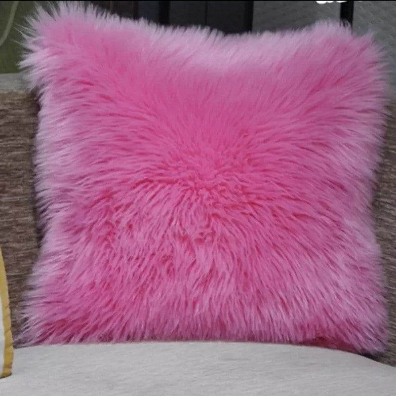 Pink Luxury Plush Pillow Case