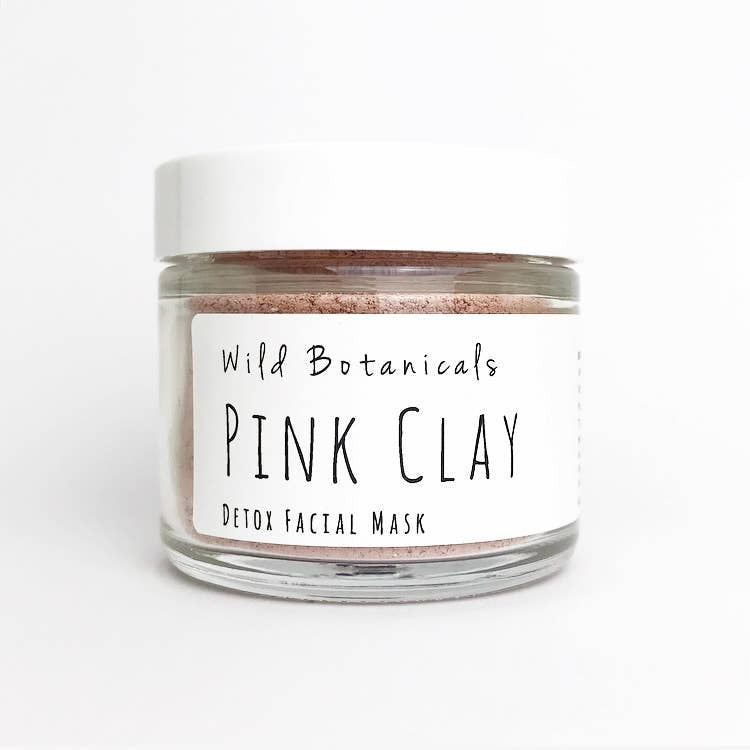 Pink Clay Face Mask by Wild Botanicals 1.3oz