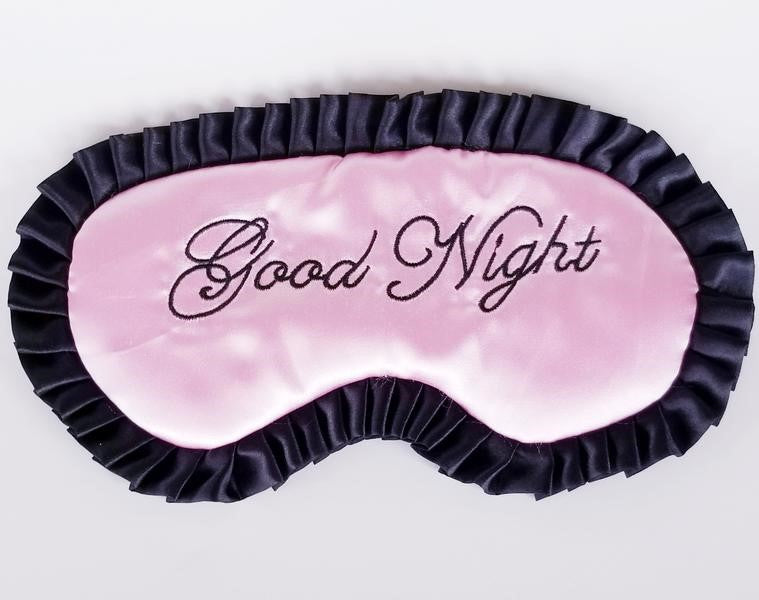 Pink Good Night Sleep Eye Cover