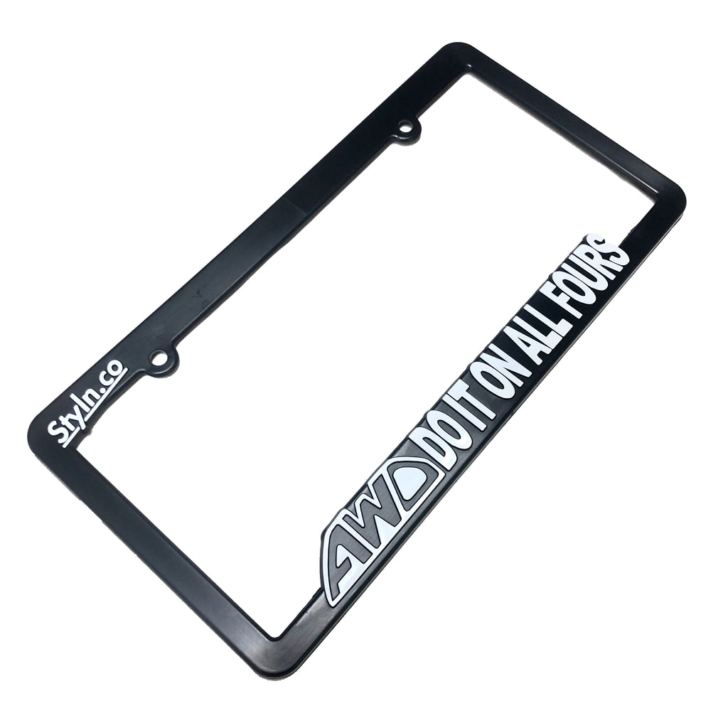 AWD DO IT ON ALL FOURS License Plate Frame