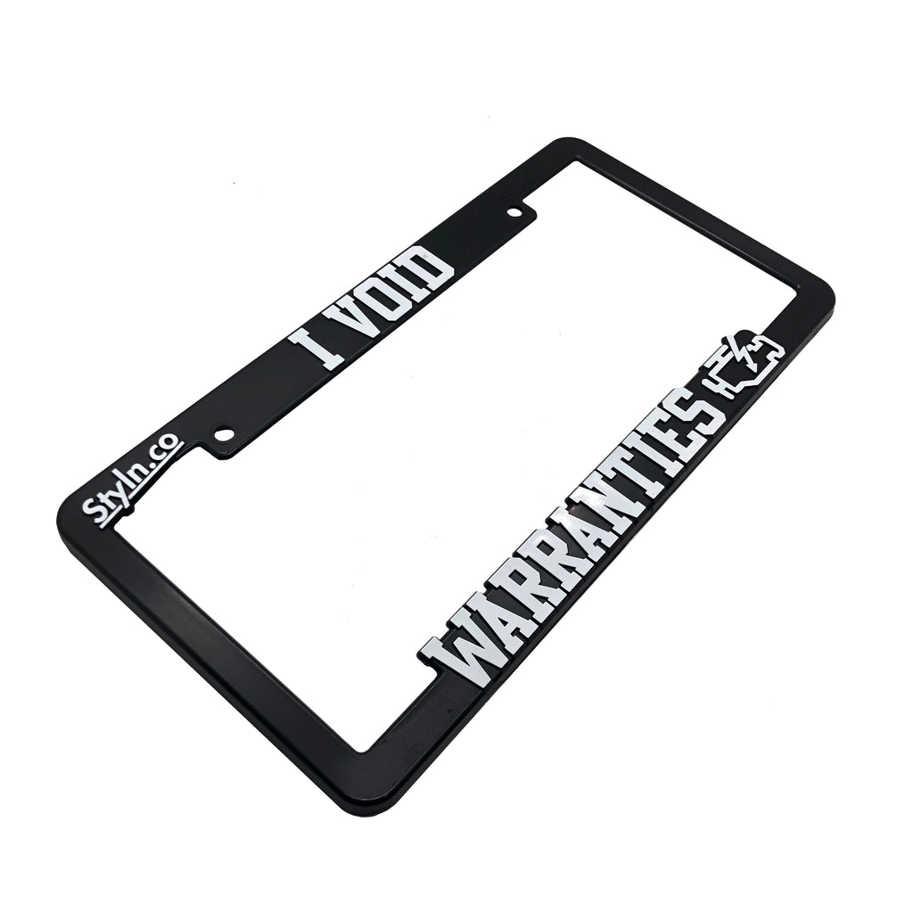I VOID WARRANTIES License Plate Frame