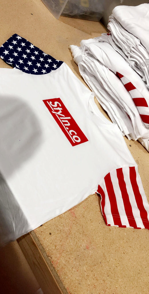 STYLN® T-Shirt USA Sleeves