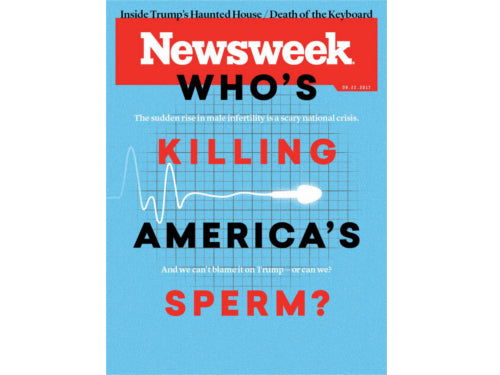 "Trak featured in Newsweek cover story ""Who's killing America's sperm?"""