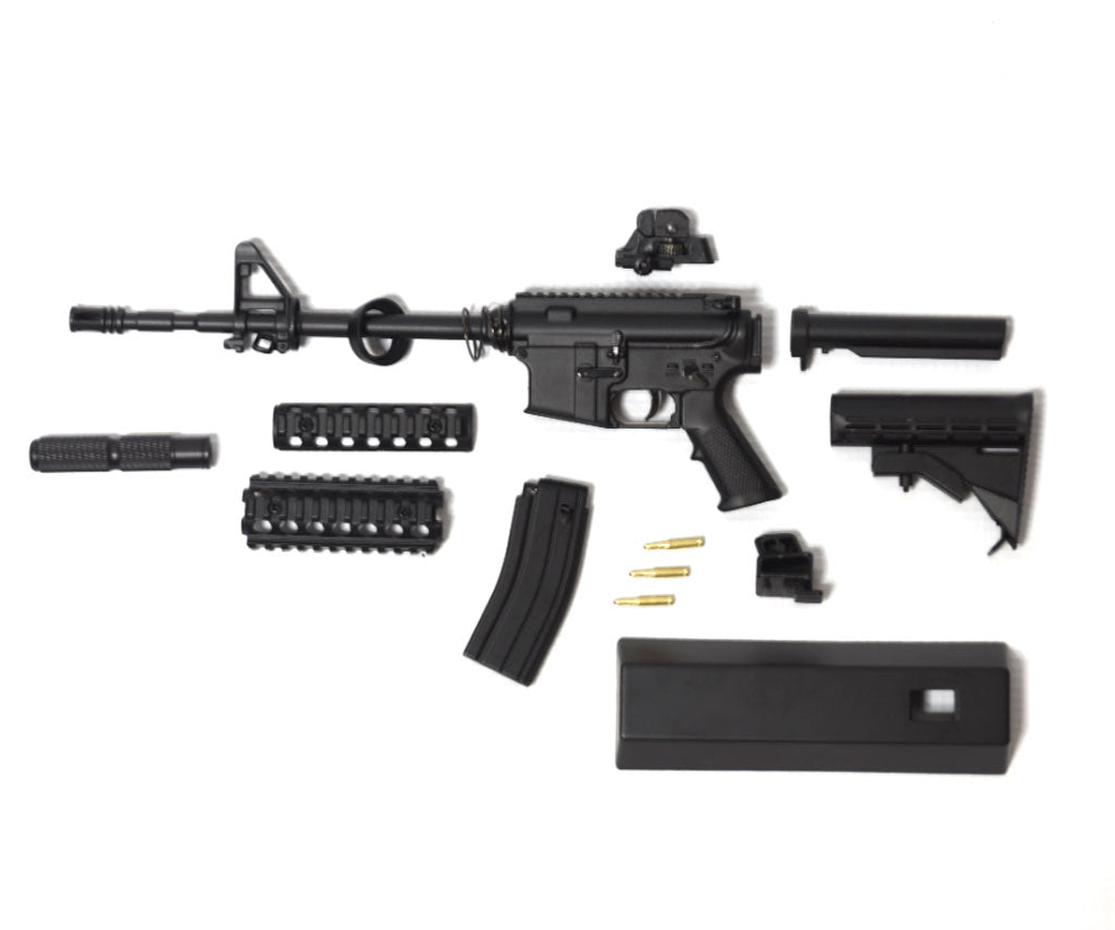replica ar15 in disassembled pieces
