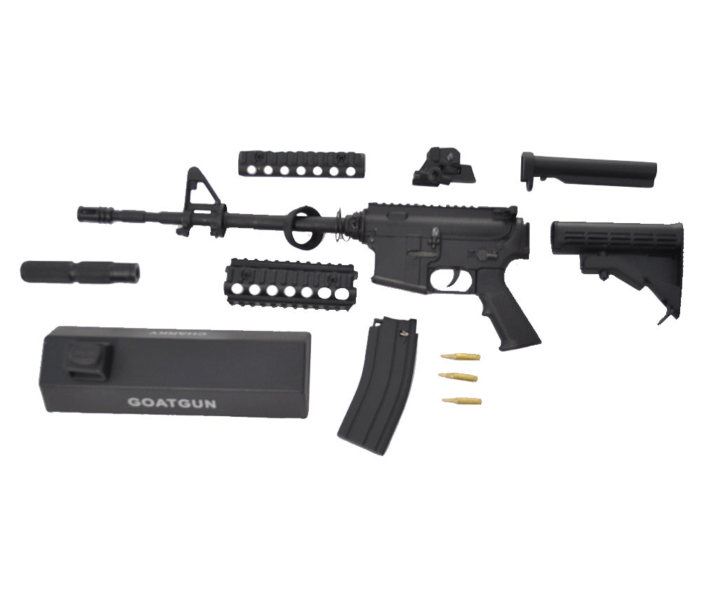 black ar15 1:3 scale disassembled pieces