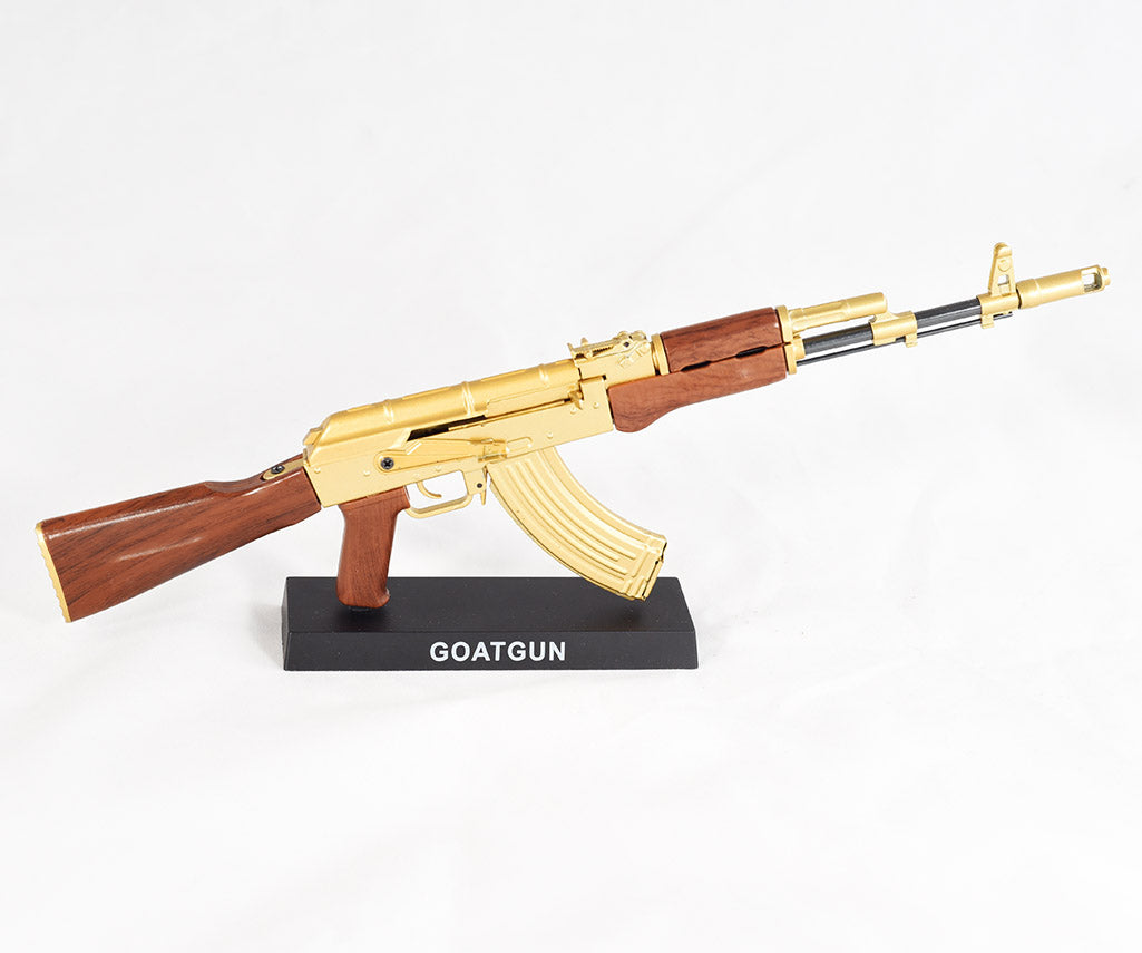 gold ak47 rifle replica mini goatgun 1 3 scale model gold ak47 goldilocks ebay
