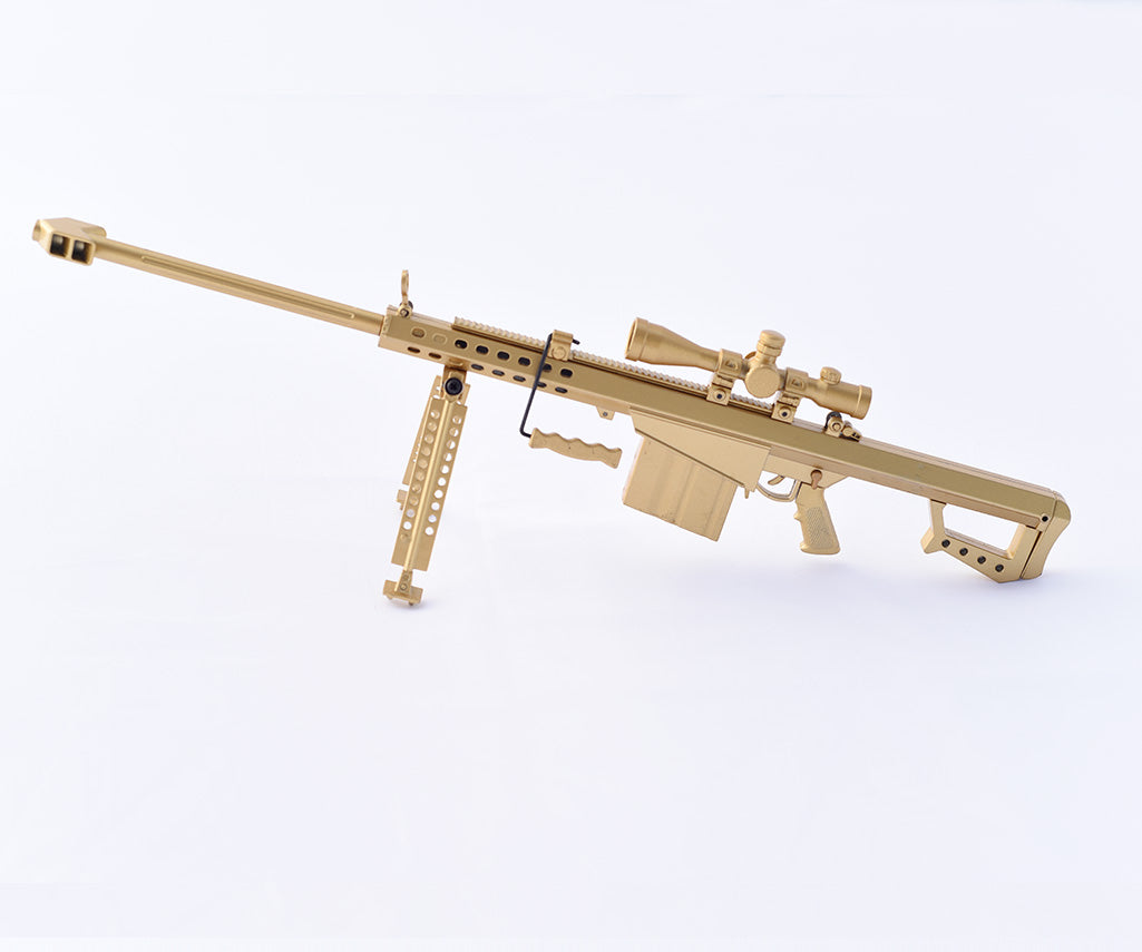 Miniature .50 Cal Gold Toy Gun Model