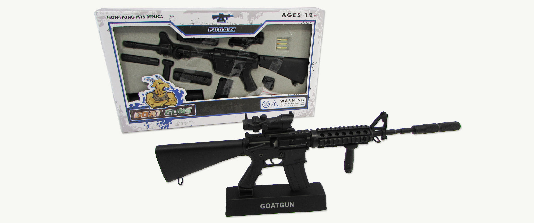 M16 Replica with Goatgun box