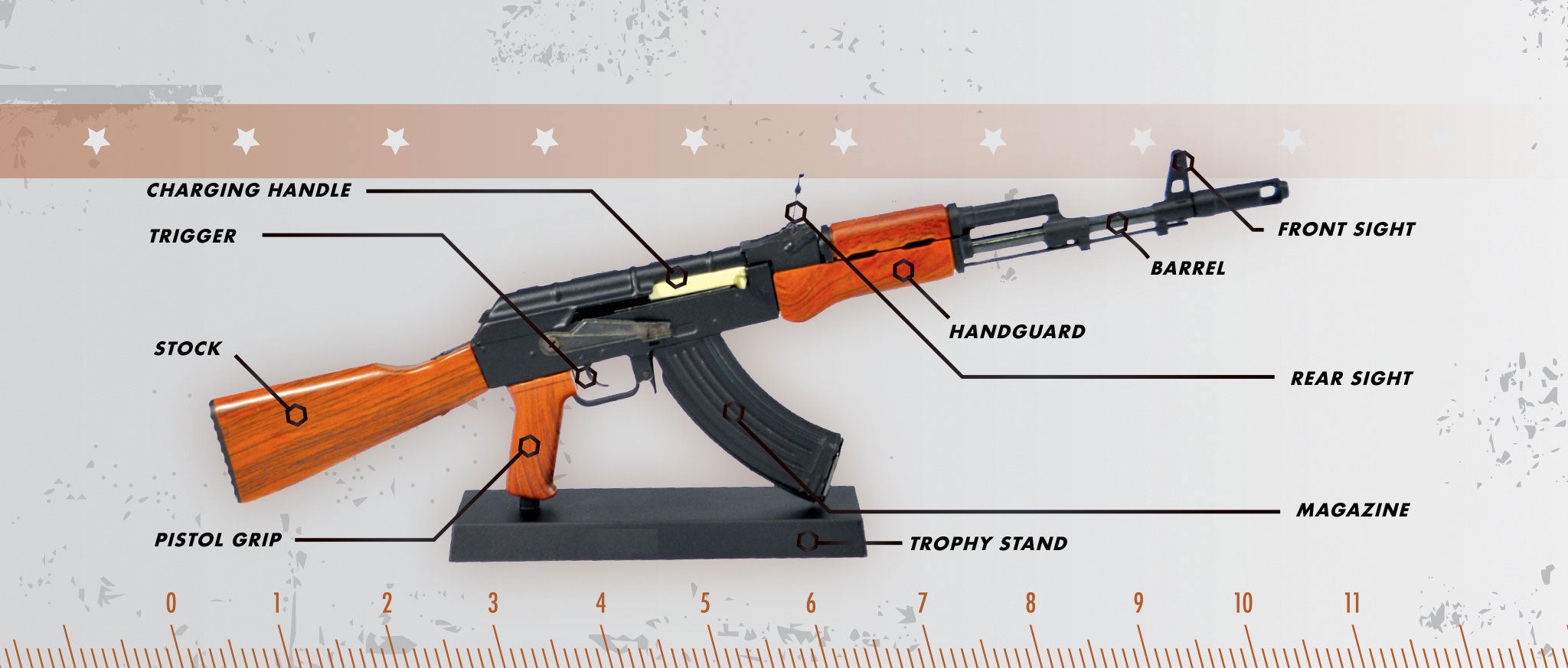 Black AK47 rifle facts