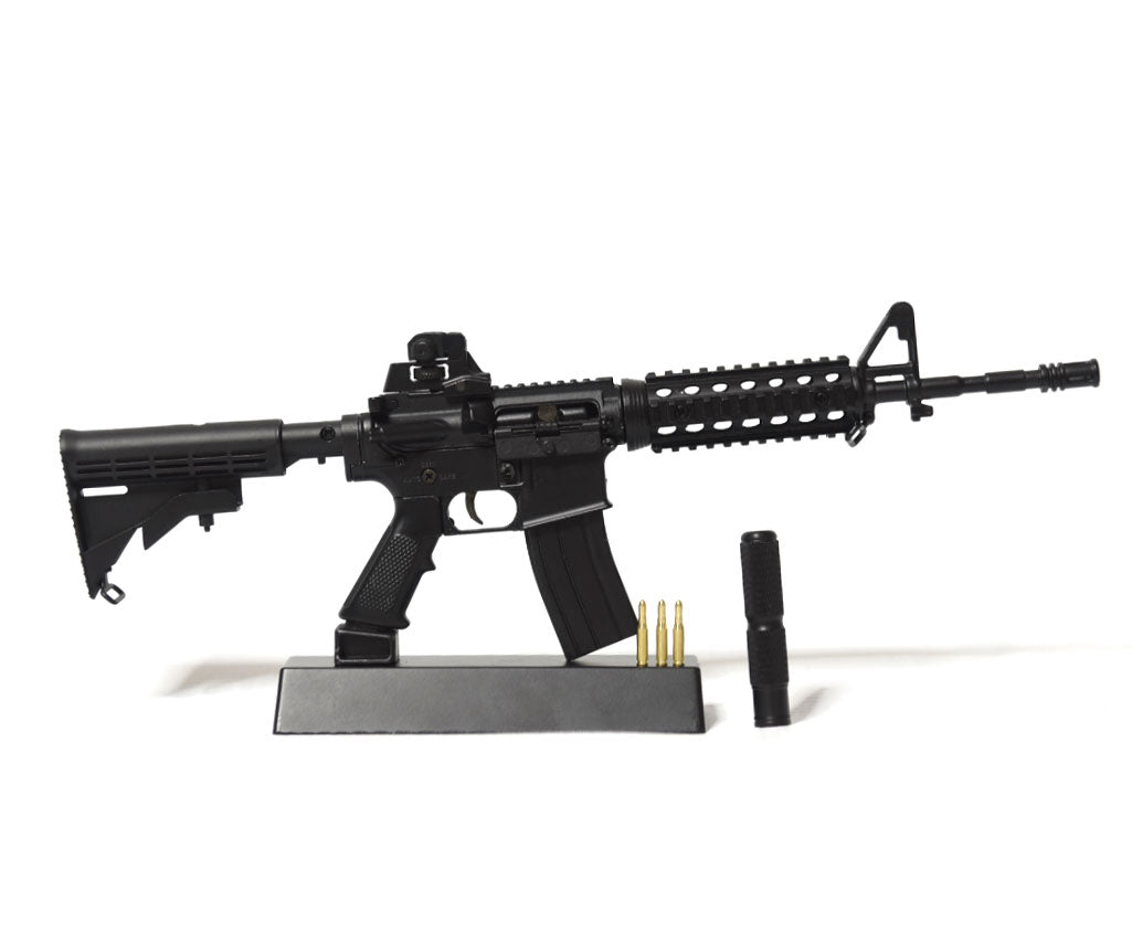 scale model ar15 on trophy stand