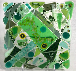 Fused Glass & Tea Night - Two 6 x 6 Plates - Friday, Dec. 6th