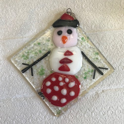 Fused Glass & Tea Night - 4 Diamond Shaped Ornaments - Wednesday, December 2nd (Day Class)