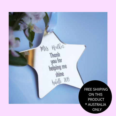 Teacher shine star ornament
