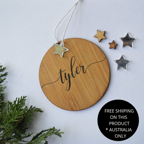 Deluxe personalised Christmas ornament