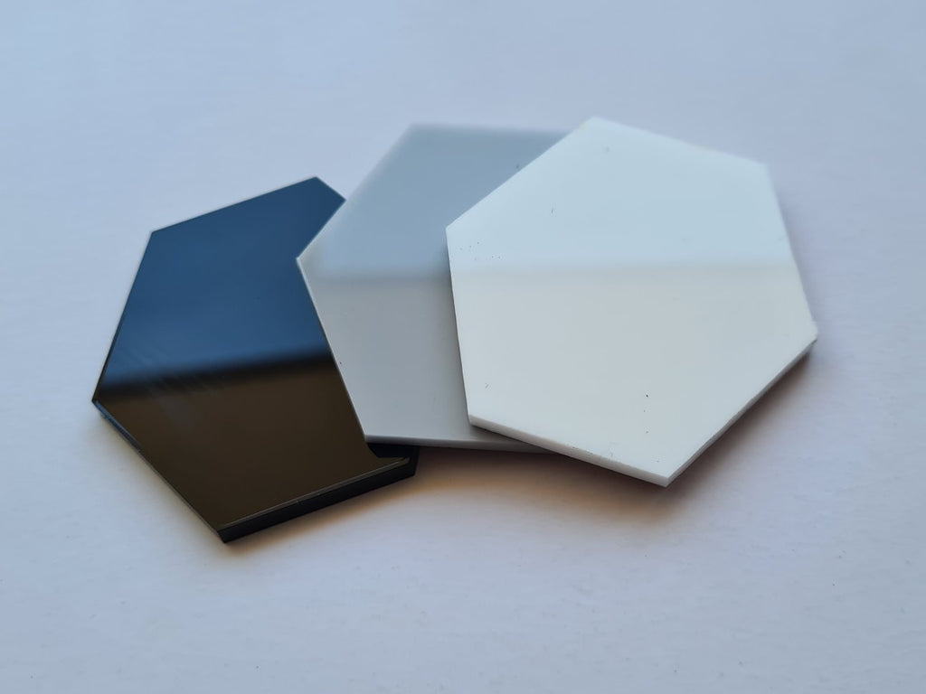 Hexagon White Acrylic