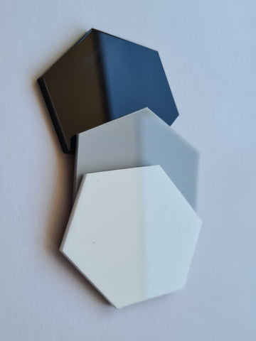 Hexagon Grey Acrylic