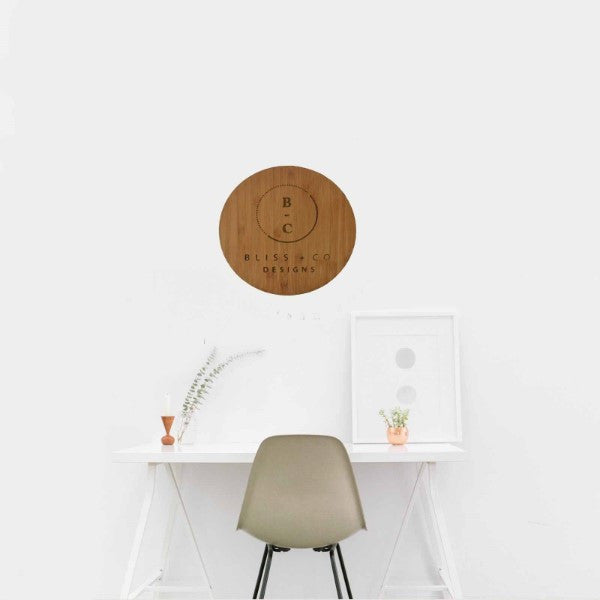 Timber logo disc - Bliss & Co Designs