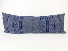 XL Indigo Lumbar Pillow Cover