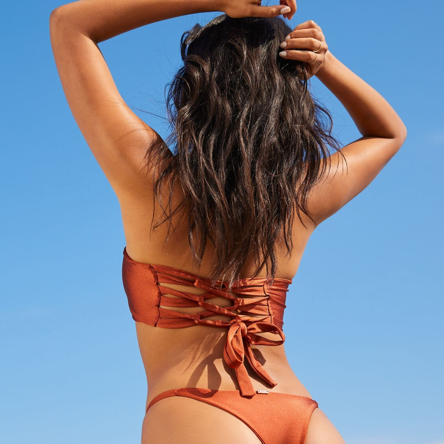 MIA BANDEAU TOP BURNT ORANGE