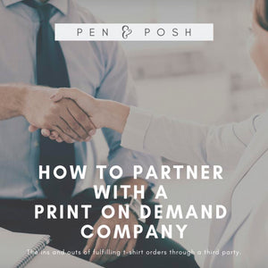 How to Partner with a Print on Demand Company