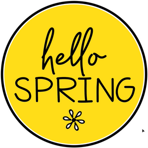 Hello Spring Sticker - Excerpt from Course