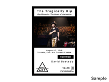 The Tragically Hip - Gord Downie - The Heart of the Matter - Limited Edition Fine Art Print - 13 x 19 - Metallic