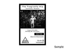 The Tragically Hip - Gord Downie - Salute - Limited Edition Fine Art Print - 13 x 19