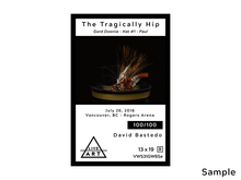 The Tragically Hip - Gord Downie - Hat #1 - Paul - Limited Edition Fine Art Print - 13 x 19 - Metallic