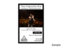 The Tragically Hip - Gord Downie - Thank You Music Lovers - Limited Edition Fine Art Print