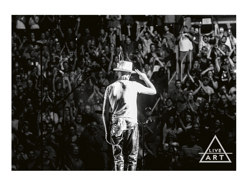 The Tragically Hip - Gord Downie - Salute - Limited Edition Fine Art Print - 13 x 19 - Metallic