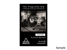 The Tragically Hip - In Between Evolution Outtake #1 - Richard Beland Limited Edition Fine Art Prints - 13 x 19