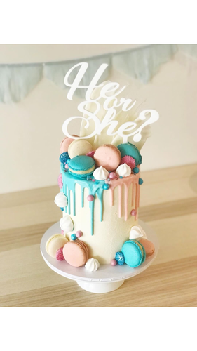 Cake Toppers - He or She?