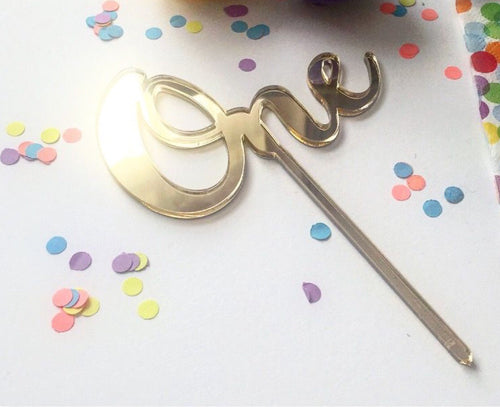 Cake Toppers - 'One'- First Birthday
