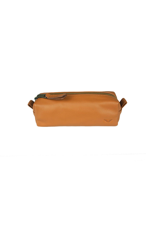 Pencil Case Pouch - Cognac - Divino Leather Goods