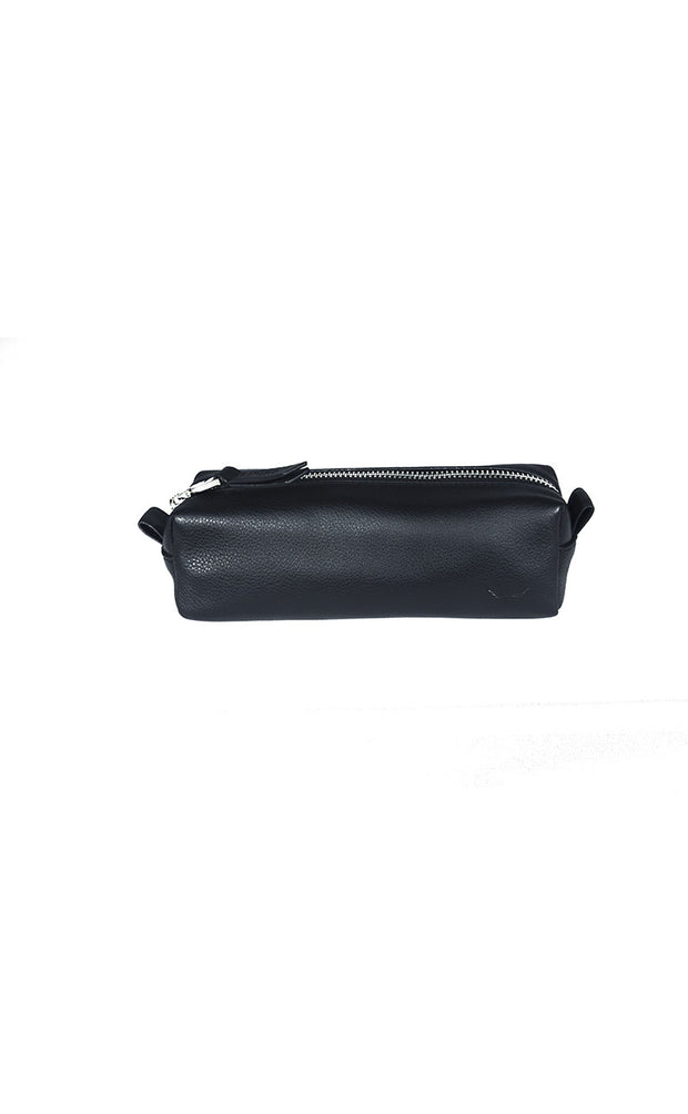 Pencil Case Pouch - Black - Divino Leather Goods