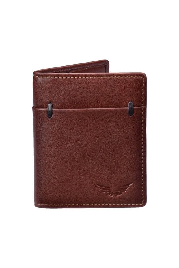 Stefano - Leather Cardholder - Brandy - Divino Leather Goods