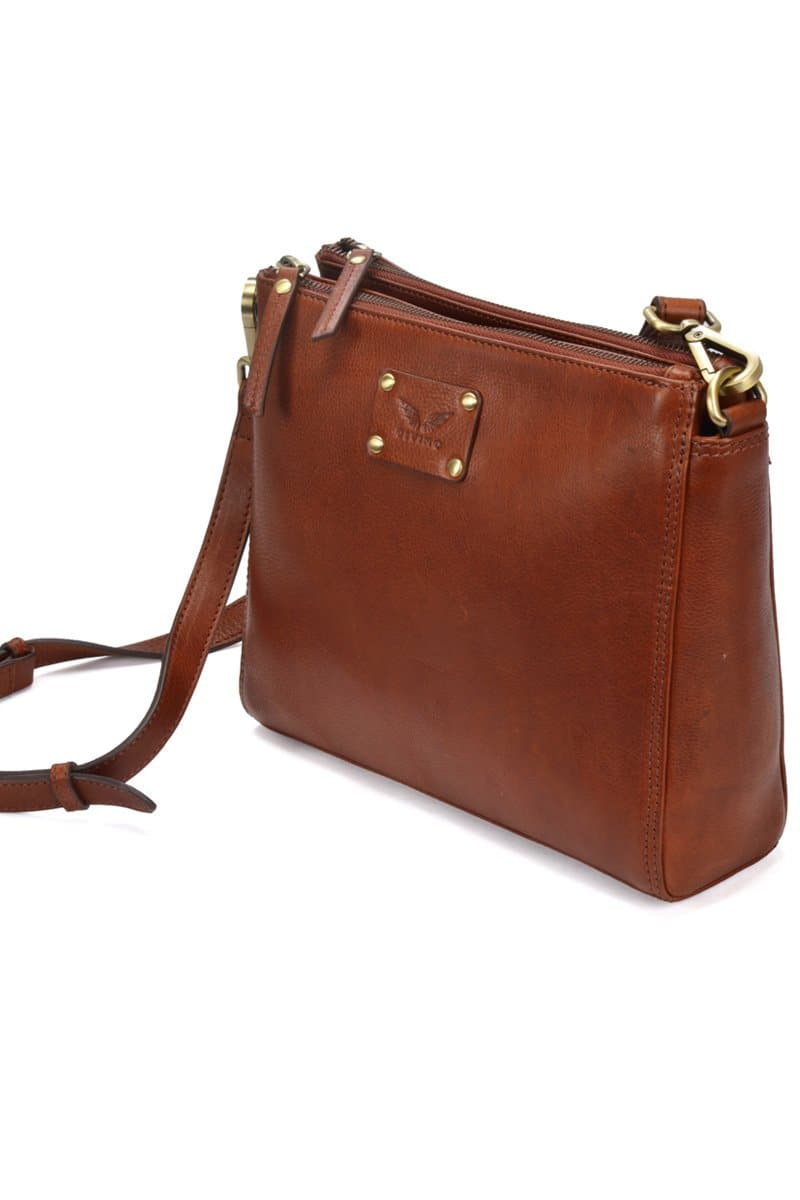 Ada - Leather Sling Bag - Saddle Tan - Divino Leather Goods